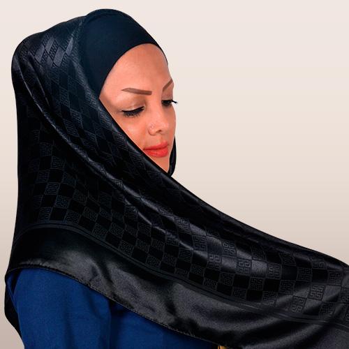 روسری ساتن براق