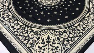 روسری حریر مشکی
